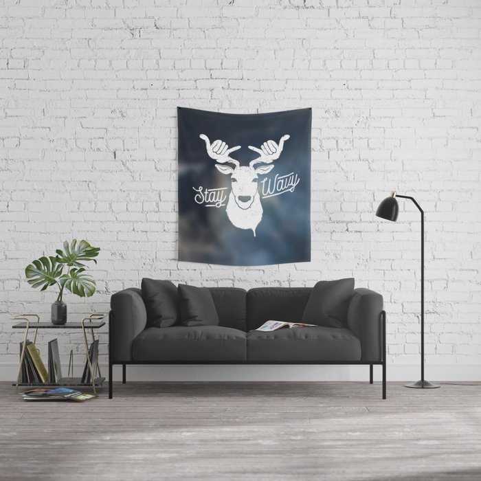 Stay Wavy Oceanic Wall Tapestry