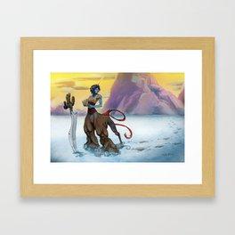 Treasure Map Framed Art Print