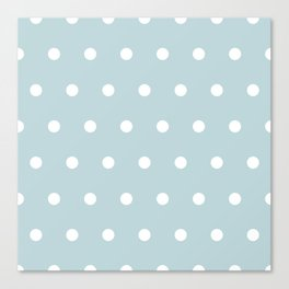 Small White Dots on BBLue Canvas Print