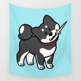 Fight Me Shibe Wall Tapestry