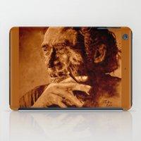 bukowski iPad Cases featuring Charles Bukowski - quote - sepia by ARTito