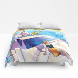 FAMILY ON YACHT Comforters