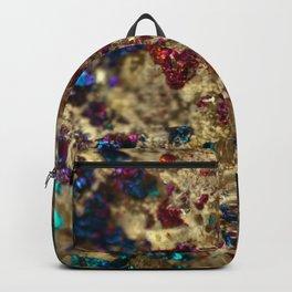 Golden Oil Slick Quartz Backpack