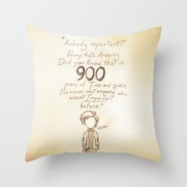 900 Years [A Scribble] Throw Pillow