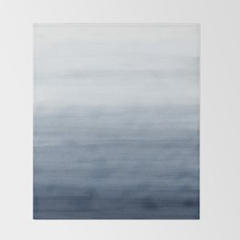 Ocean Watercolor Painting No.2 Throw Blanket