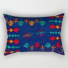 -A17- Anthropologie Moroccan Blue Artwork. Rectangular Pillow