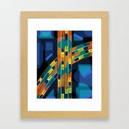 Midnight highway Framed Art Print