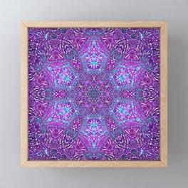 Pink, Purple, and Blue Mandala Framed Mini Art Print