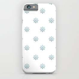 Blue Glitter Snowflake iPhone Case