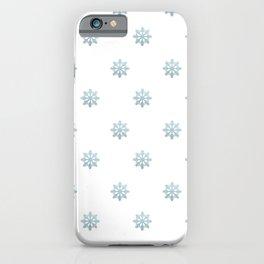 Blue Glitter Snowflake iPhone Case
