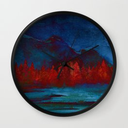 Red Pines Wall Clock