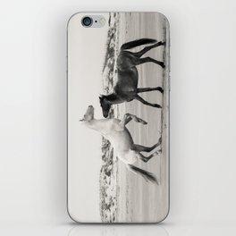 Wild Horses 5 - Black and White iPhone Skin