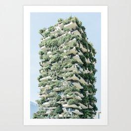 Bosco Verticale, Vertical Forest, Wall Decor, Architectural Print, Modern Building Art Print