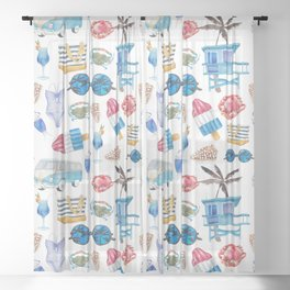 Summer #5 Sheer Curtain