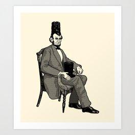 Hat Head Art Print
