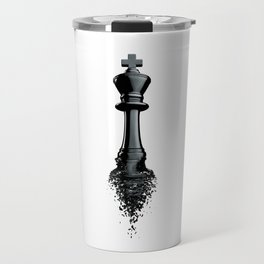 Farewell to the King / 3D render of chess king breaking apart Travel Mug