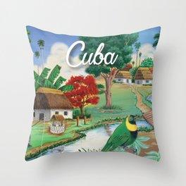 Cuba Scenery 2 Throw Pillow