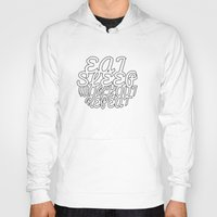 workout Hoodies featuring eat, sleep, workout, repeat by Pink Marie Designs