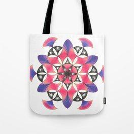 Pink Flower of Life Mandala Tote Bag