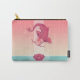 Perseverance // Koi & Lotus Carry-All Pouch
