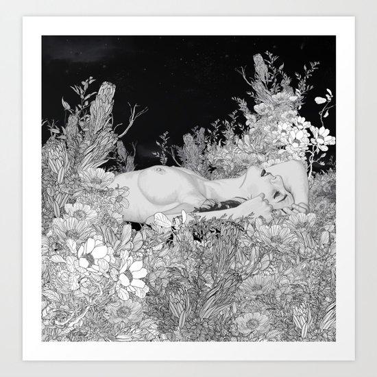 Lie down in darkness Art Print