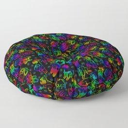 Schnauzer Sketch Rainbow Floor Pillow