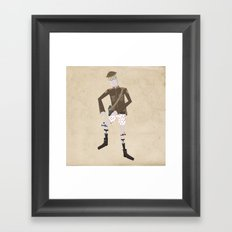 Timmy and his Performing Knees Framed Art Print
