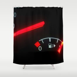 Fuel Gauge, Full Tank, Car Fuel Display Shower Curtain