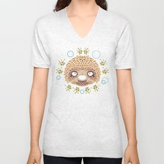 Sloth Face Unisex V-Neck