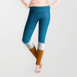 Rothko Minimalist Mid Century Modern Vintage Colorful Pop Art Colorfields Dark Teal Yellow Ochre Leggings