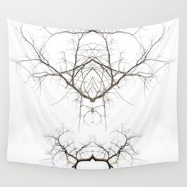 Mirrored Trees 1 Wall Tapestry