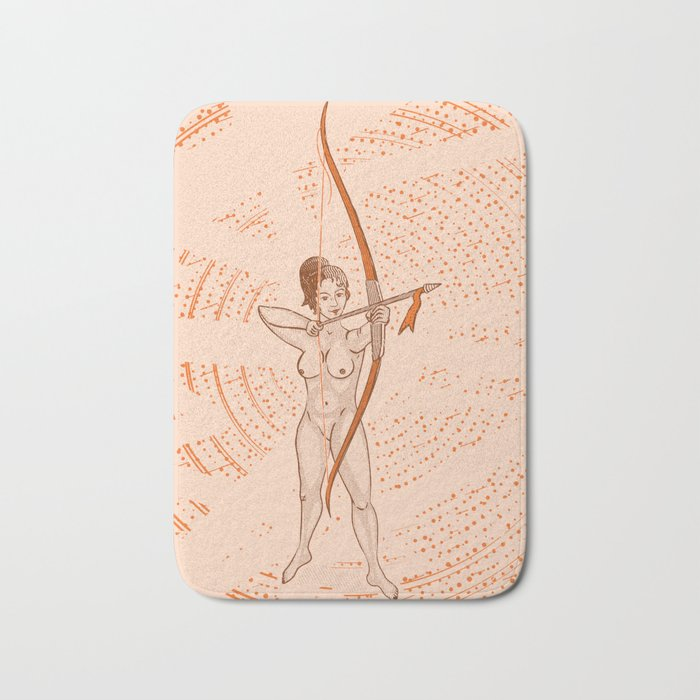Archer naked girl (Amazons) Bath Mat