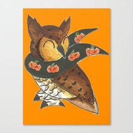 Happy Owl-o-Ween! Canvas Print