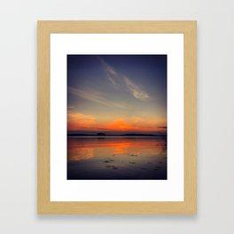 Colorful evening Framed Art Print