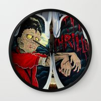 vans Wall Clocks featuring Thriller Vans by MonsterMacDesigns