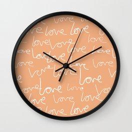 Love doodles Wall Clock