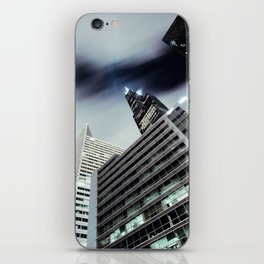 Cityscape I - Contemporary Skyscrapers Minimal Modern Studio Office Art Print Chicago iPhone Skin