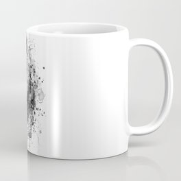 Black And White Half Faced Grizzly Bear Coffee Mug