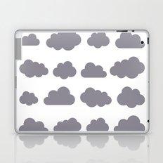 Grey clouds winter time art Laptop & iPad Skin