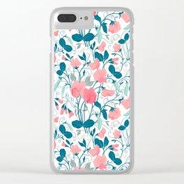 Sweet pea. Floral pattern. Clear iPhone Case