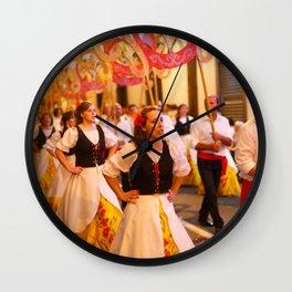 Festival in Azores islands Wall Clock