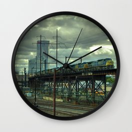 Philadelphia Skyline Freight Wall Clock