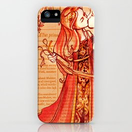 Alls Well That Ends Well - Romantic Shakespeare Folio Illustration iPhone Case