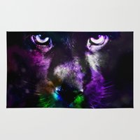 panther Area & Throw Rugs featuring Panther by haroulita