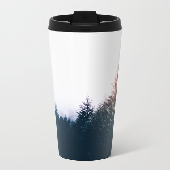 Waking up in a forest Metal Travel Mug