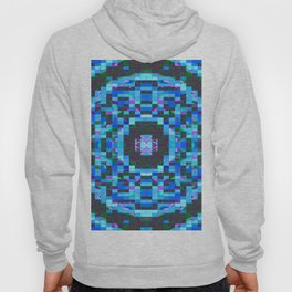 Blue-mosaic-pattern Hoody