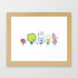The Breakfast Song Framed Art Print