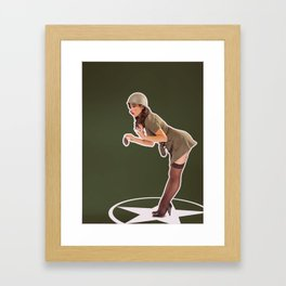 """""""Foxhole"""" - The Playful Pinup - Grenade Military Pin-up by Maxwell H. Johnson Framed Art Print"""