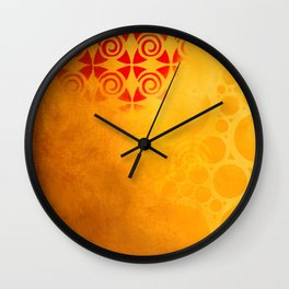 Pattern in a sandstorm Wall Clock