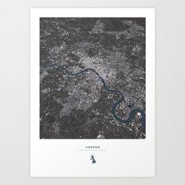 London City Map II Art Print